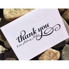 personalized thank you cards custom wedding thank you cards bridal shower thank you notes