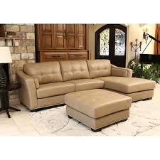 austin top grain leather sectional with ottoman chelsie top grain leather chaise sectional and ottoman 27th avenue