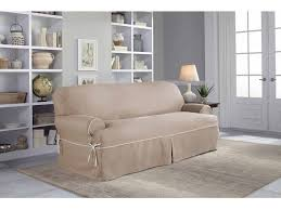 Stretch Slipcovers For Recliners Sofas Magnificent Sure Fit Duck Solid T Cushion Sofa Slipcover