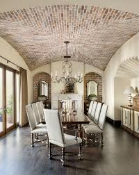 groin vault with brick dining room and french doors lisa lee