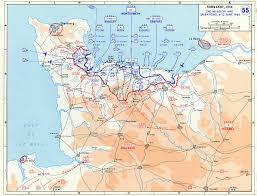 France On A Map this map shows the battle which was fought between the allied