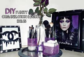 diy vanity organization u0026 decor ideas youtube
