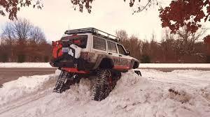 jeep snow tracks snowhawk snow test 001 jeep cherokee tracks youtube