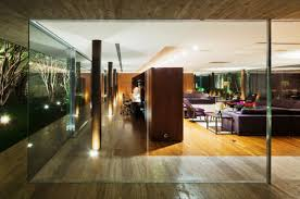 Interior Glass Walls For Homes Toblerone House Brazil