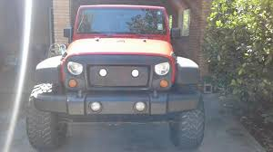 Rugged Ridge Grille Inserts Jeep Jk Rugged Ridge Wrangler Spartan Grille W Mesh Insert And Round Led
