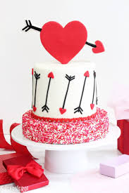 pink and red velvet valentine u0027s day cake sugarhero