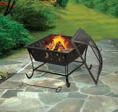 amazon com deckmate luna wood burning outdoor firebowl fire