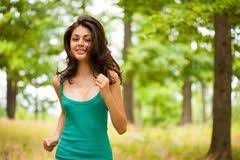 Girl Running Meme - beautiful girl running through forest stock image image of