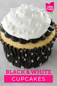 Make Beautiful by How To Make Beautiful Black And White Cupcakes With Cake Mate