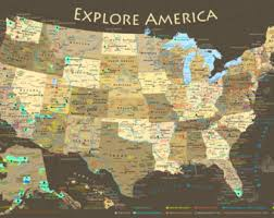 map us national parks usa map national parks slate edition framed pin map ready
