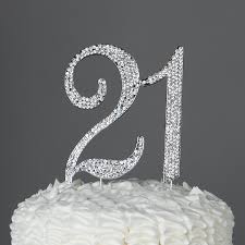 amazon com 21 cake topper for 21st birthday party supplies