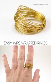 metal wire rings images Easy wire wrapped rings diy dream a little bigger jpg