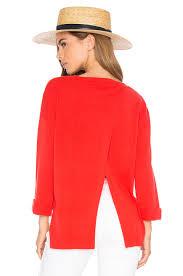 Autumn Cashmere Rib Drape Cardigan Autumn Cashmere High Low Open Back Sweater Lava Women Autumn