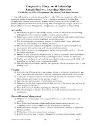 Objective In Resume For Internship 100 Finance Internship Resume Internship Cover Letters Read The