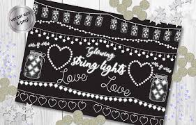 Autumn String Lights by String Lights Clipart Fairy Lights Chalkboard Party Lights
