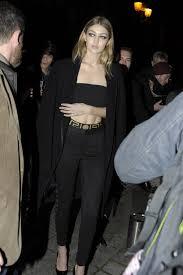 Mens Clothes For Clubbing Gigi Hadid Wears White Slit Dress In Paris Gigi Hadid Fashion Photos