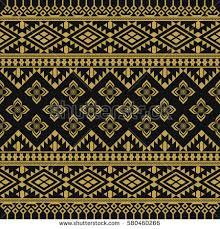 asian traditional art design vector thai stock vector 642200242