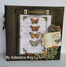 8x8 photo album some craft prima forever green 8x8 mini album advanced class 2015