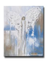 Angels Home Decor by Angel Paintings Abstract Art Guardian Angels Spiritual Wall Art