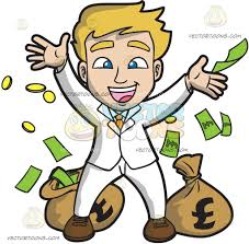 a couple dancing tango cartoon clipart vector toons a lucky guy rejoicing with his money
