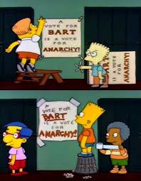 Bart Simpson Meme - bart simpson s school caign gets help from the opponent