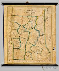 Robinson Map Vermont And New Hampshire Lewis Robinson 1793 1871 Map Of