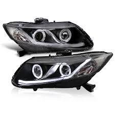 for 12 15 honda civic sedan 12 13 coupe drl led optic style