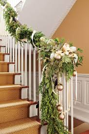 Christmas Banister Garland Ideas The 25 Best Christmas Stairs Decorations Ideas On Pinterest