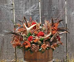 deer horn flower arrangements the pheasant antler bucket is