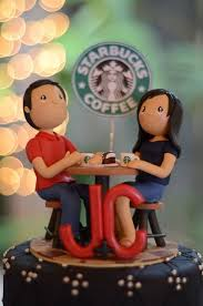 themed wedding cake toppers starbucks coffee wedding cake wedding cake topper coffee theme