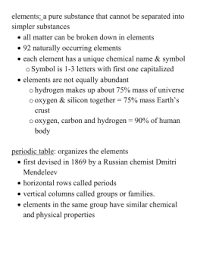 name date class section 3 4 elements and compounds in your