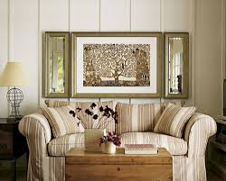 Interesting Home Decor Ideas by Interior Artistic Design In Living Room Using Cream Stripes