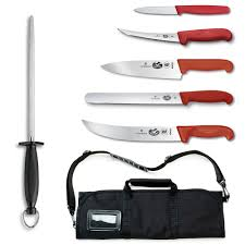 victorinox kitchen knives fibrox victorinox swiss army 46136us2 7 piece competition bbq knife set