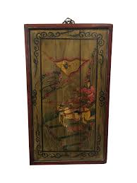 chinese painted wood panel chairish