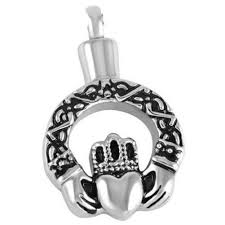 cremation necklaces wholesale cremation jewelry crown held heart pendant keepsake