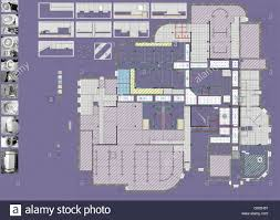 plan drawing public building stock photo royalty free image