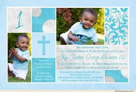 invitation wording for 1st birthday and baptism 42341