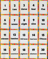 counting numbers 1 to 20 numbers 1 20 lesson for study