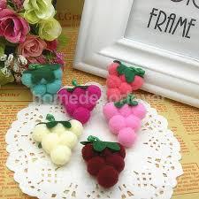 100pcs fluffy pom poms snow balls 5 colors 0 5
