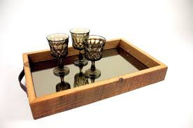 Serving Tray Ottoman by Custom U0027fryslân U0027 Serving Tray Reclaimed Barn Wood U0026 Mirror By