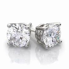 gold second studs awesome second diamond stud earrings jewellry s website
