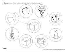free cube worksheets for children