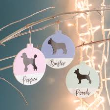 personalised pet contrast christmas tree decoration by oakdene