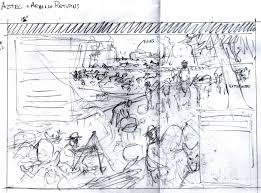 Mural Painting Sketches by Mules And Horses U2013 Old Santa Fe Trail Painting For The National