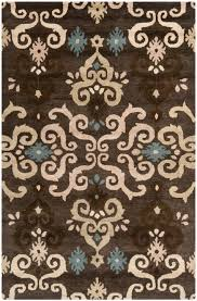 Chocolate Brown Area Rugs Turquoise And Brown Area Rugs Brilliant Safavieh With Regard To 15