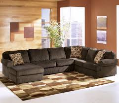 Brown Sectional Sofa With Chaise Decorating Fill Your Living Room With Elegant Ashley Furniture