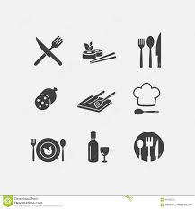 icone cuisine cuisine de menu d icône de nourriture de restaurant de vecteur