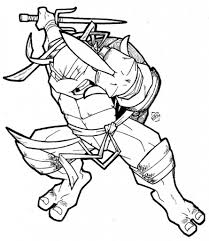 teenage mutant ninja turtles coloring pages casey jones cartoon