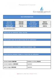 non conformance report form template everyday business forms gas support services