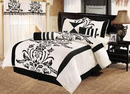 Black And White Comforter Set King Bedroom Black And White Comforter Sets Black Bed Sets Queen